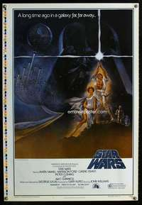 v002 STAR WARS printer's test A 1sh movie poster '77 George Lucas