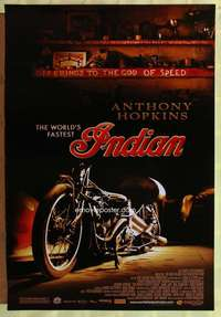 v647 WORLD'S FASTEST INDIAN one-sheet movie poster '05 Anthony Hopkins