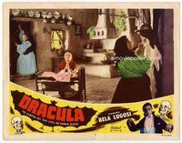 b414 DRACULA movie lobby card #7 R51 praying for salvation!