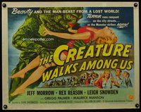 d454 CREATURE WALKS AMONG US style B half-sheet movie poster '56 different!