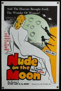 f004 NUDE ON THE MOON one-sheet movie poster '62 Doris Wishman classic!