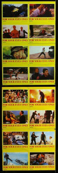 h071 FOR YOUR EYES ONLY 16 Aust move lobby cards '81 Moore as Bond!
