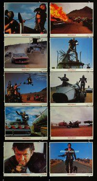 h076 MAD MAX 2: THE ROAD WARRIOR 10 move lobby cards '81 Mel Gibson