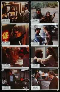h083 48 HOURS 8 move lobby cards '82 Nick Nolte, Eddie Murphy