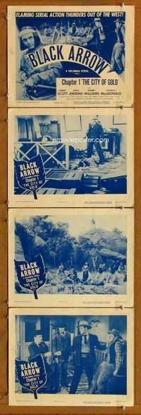 h045 BLACK ARROW 4 Chap 1 move lobby cards R55 Native Americans!