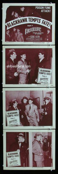 h057 BLACKHAWK 4 Chap 9 move lobby cards '52 serial from comic book!