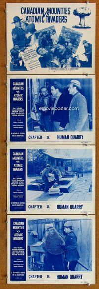 h066 CANADIAN MOUNTIES VS ATOMIC INVADERS 4 Chap 10 move lobby cards '53