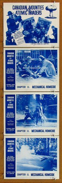 h067 CANADIAN MOUNTIES VS ATOMIC INVADERS 4 Chap 11 move lobby cards '53