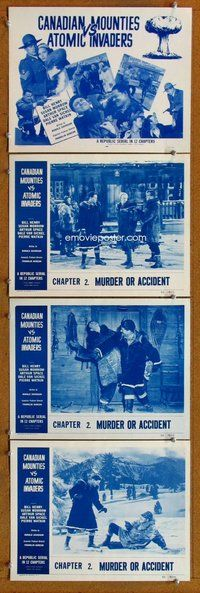 h058 CANADIAN MOUNTIES VS ATOMIC INVADERS 4 Chap 2 move lobby cards '53