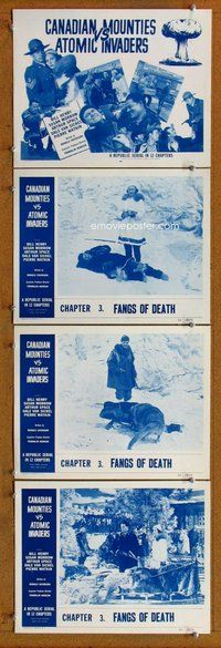 h059 CANADIAN MOUNTIES VS ATOMIC INVADERS 4 Chap 3 move lobby cards '53