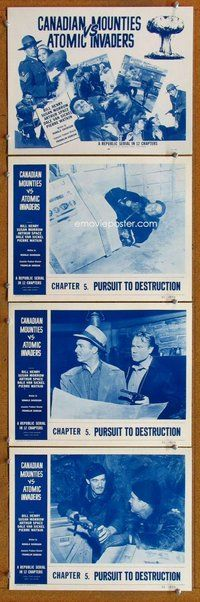 h061 CANADIAN MOUNTIES VS ATOMIC INVADERS 4 Chap 5 move lobby cards '53