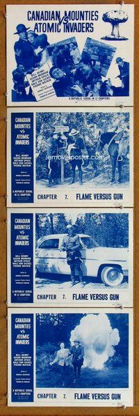 h063 CANADIAN MOUNTIES VS ATOMIC INVADERS 4 Chap 7 move lobby cards '53