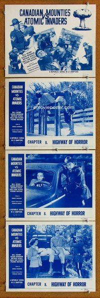 h064 CANADIAN MOUNTIES VS ATOMIC INVADERS 4 Chap 8 move lobby cards '53