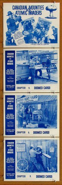 h065 CANADIAN MOUNTIES VS ATOMIC INVADERS 4 Chap 9 move lobby cards '53