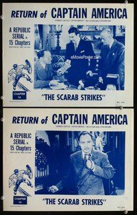 h049 CAPTAIN AMERICA 2 Chap 14 move lobby cards R53 Lionel Atwill