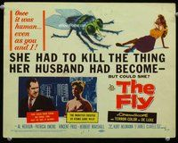 h007 FLY title movie lobby card '58 Vincent Price, classic sci-fi!