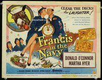 h017 FRANCIS IN THE NAVY title movie lobby card '55 Donald O'Connor, Hyer