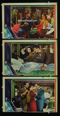 h788 LADY VANISHES 3 move lobby cards '38 Alfred Hitchcock classic!