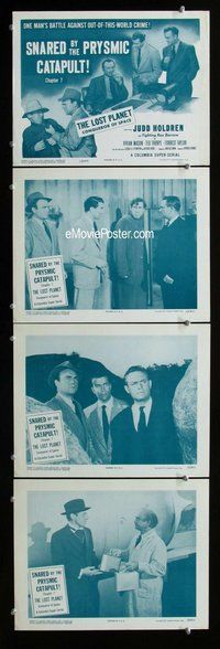 h069 LOST PLANET 4 move lobby cards '53 Holdren, serial