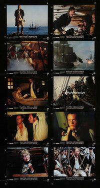 h077 MASTER & COMMANDER 10 move lobby cards '03 Russell Crowe, Weir