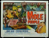 h005 MOLE PEOPLE title movie lobby card '56 Universal sci-fi horror!