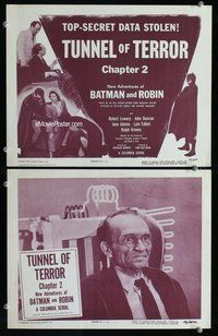 h053 NEW ADVENTURES OF BATMAN & ROBIN 2 Chap 2 move lobby cards '49