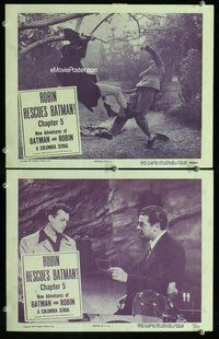 h054 NEW ADVENTURES OF BATMAN & ROBIN 2 Chap 5 move lobby cards '49