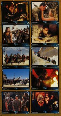 h078 PLANET OF THE APES 10 move lobby cards '01 Tim Burton, Wahlberg