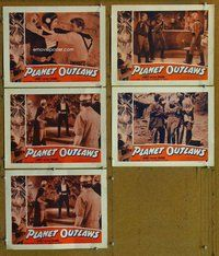 h070 PLANET OUTLAWS 5 move lobby cards '53 Buck Rogers repackaged!