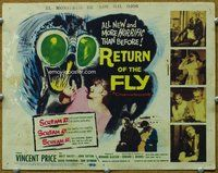 h008 RETURN OF THE FLY title movie lobby card '59 Vincent Price, sci-fi!