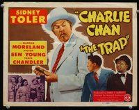 h015 TRAP title movie lobby card '47 Sidney Toler as Charlie Chan!