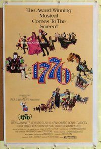 p057 1776 one-sheet movie poster '72 William Daniels, historical musical!