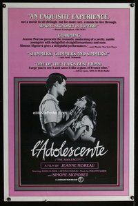p065 ADOLESCENT one-sheet movie poster '81 Jeanne Moreau, Simone Signoret
