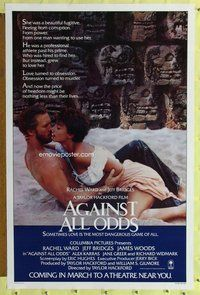 p067 AGAINST ALL ODDS advance one-sheet movie poster '84 Jeff Bridges, Ward