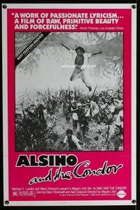 p075 ALSINO & THE CONDOR one-sheet movie poster '82 Dean Stockwell