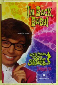 p079 AUSTIN POWERS: THE SPY WHO SHAGGED ME DS teaser one-sheet movie poster '99 Austin