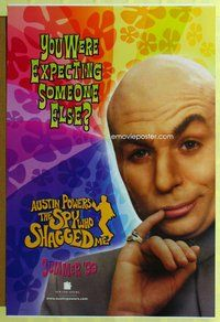p080 AUSTIN POWERS: THE SPY WHO SHAGGED ME DS teaser one-sheet movie poster '99 Evil