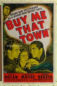 p016 BUY ME THAT TOWN one-sheet movie poster '41Lloyd Nolan,Constance Moore