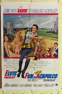 p023 FUN IN ACAPULCO one-sheet movie poster '63 Elvis Presley, Mexico!
