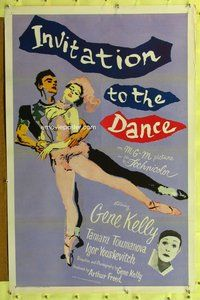p030 INVITATION TO THE DANCE one-sheet movie poster '57 Gene Kelly