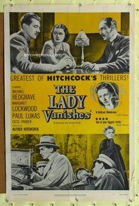 p011 LADY VANISHES one-sheet movie poster R52 Alfred Hitchcock, Redgrave