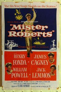 p039 MISTER ROBERTS one-sheet movie poster '55 Henry Fonda, James Cagney