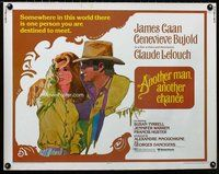 z637 ANOTHER MAN ANOTHER CHANCE half-sheet movie poster '77 Caan, Bujold