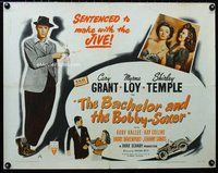 z640 BACHELOR & THE BOBBY-SOXER half-sheet movie poster R52 Cary Grant
