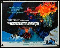 z759 ISLAND AT THE TOP OF THE WORLD half-sheet movie poster '74 Disney