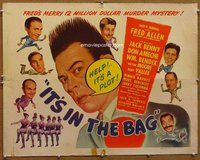 z760 IT'S IN THE BAG half-sheet movie poster '45 Fred Allen, Jack Benny