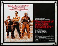 z772 LEGEND OF NIGGER CHARLEY half-sheet movie poster '72 Slave to Outlaw!