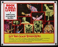 z773 LET THE GOOD TIMES ROLL half-sheet movie poster '73 Chuck Berry