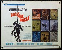 z775 LET'S KILL UNCLE half-sheet movie poster '66 William Castle horror!