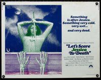 z776 LET'S SCARE JESSICA TO DEATH half-sheet movie poster '71 horror!